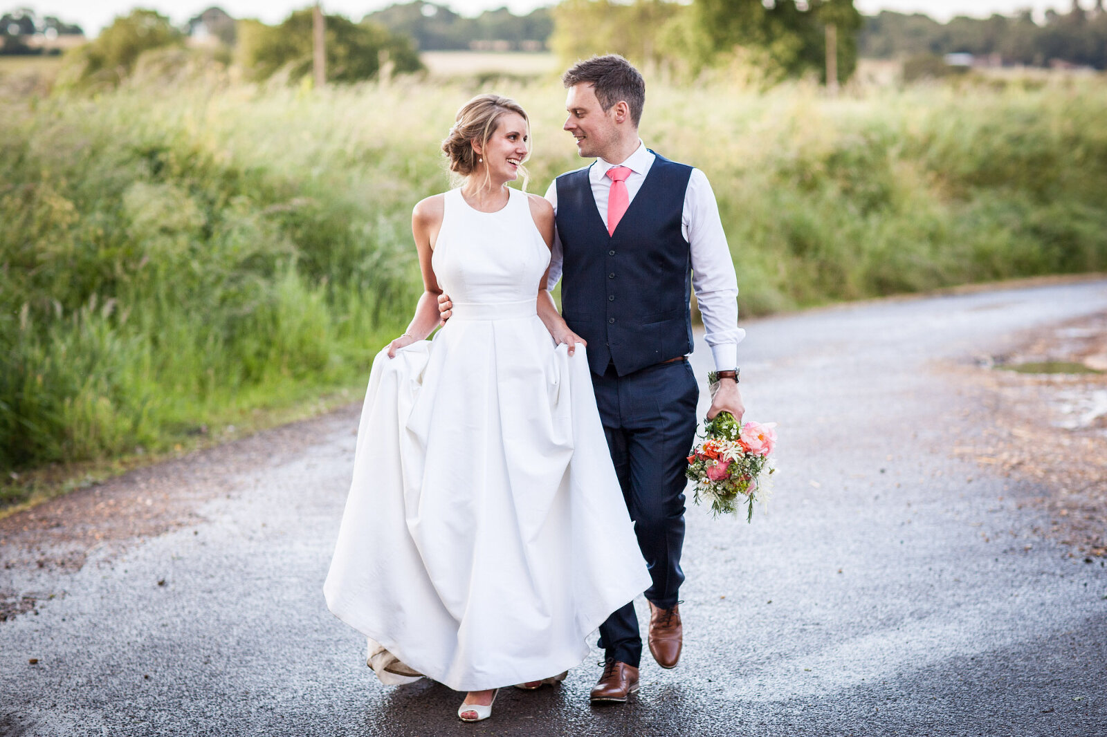 Professional Wedding Photograph of David & Giulietta in West Sussex