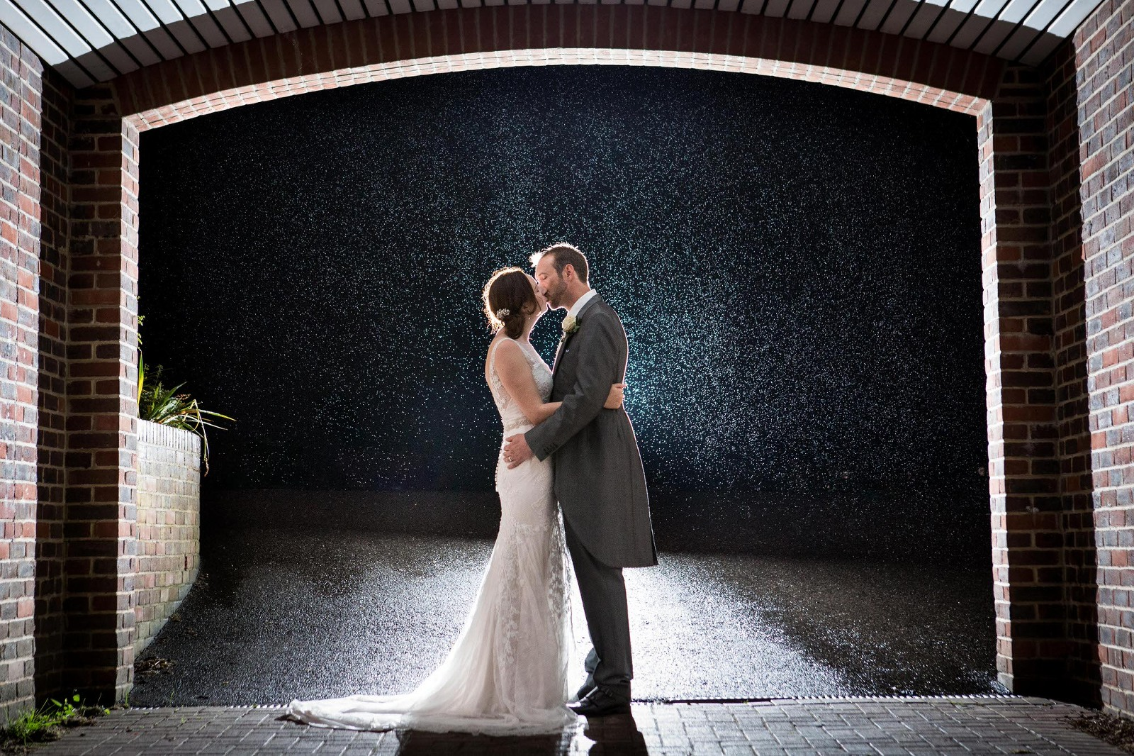 Rainy Wedding Photograph