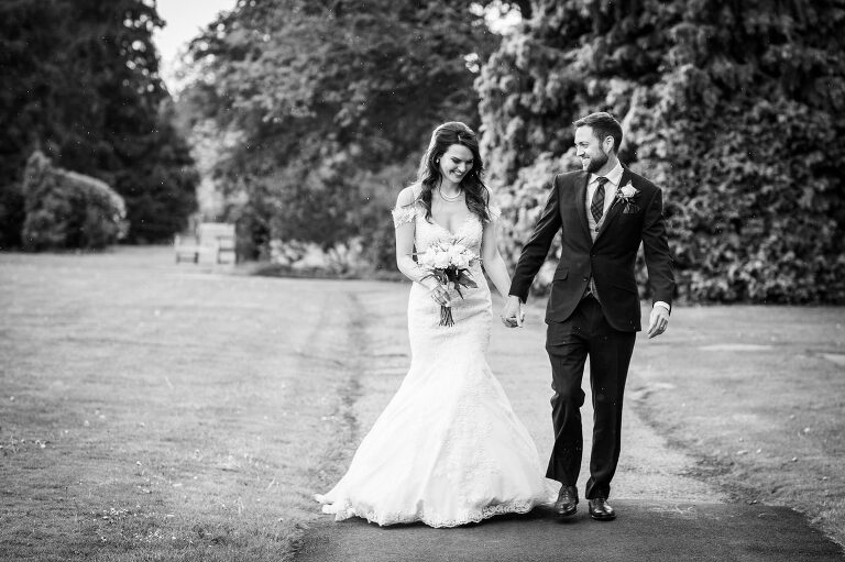 Wedding Photography Packages Bride & Groom Walking together in a London Park
