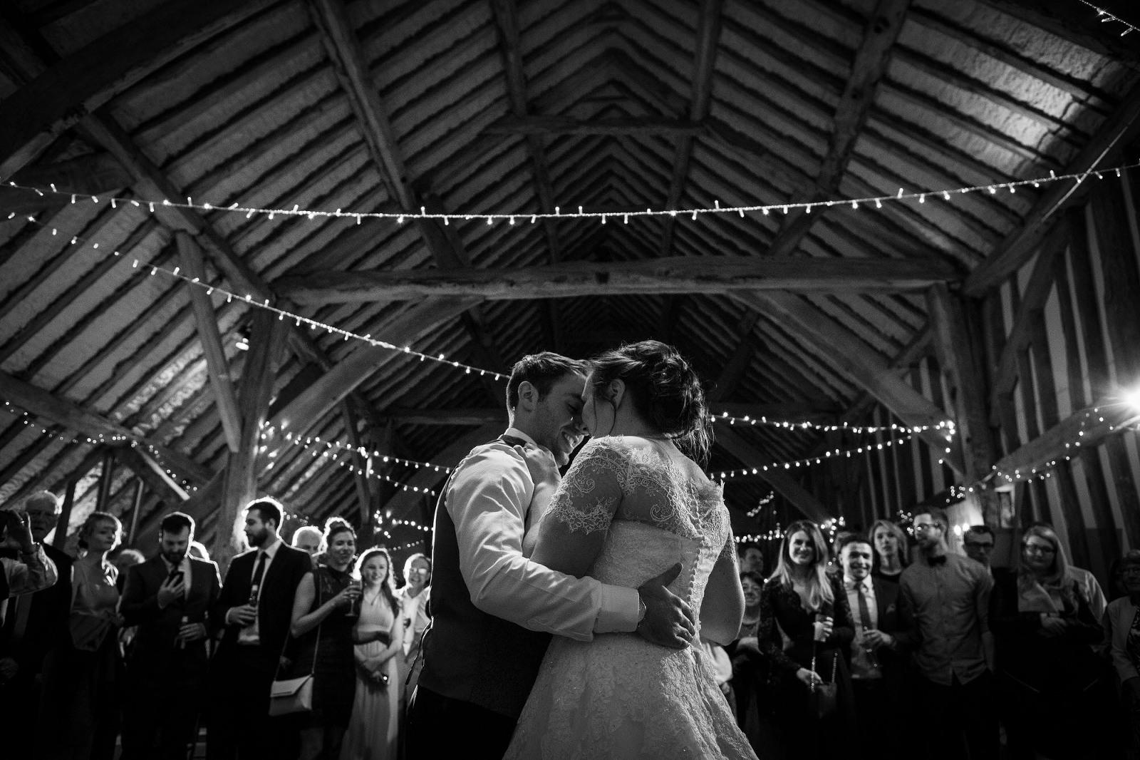Kent Wedding Photographer - Bride and Groom dancing
