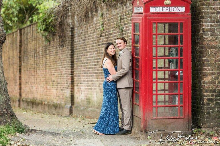 Olivia & Callum, Hampstead Heath Engagement Shoot, London